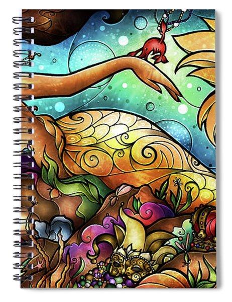 Mer De Lis Spiral Notebook