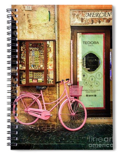 Mercante Tedora Bicycle Spiral Notebook