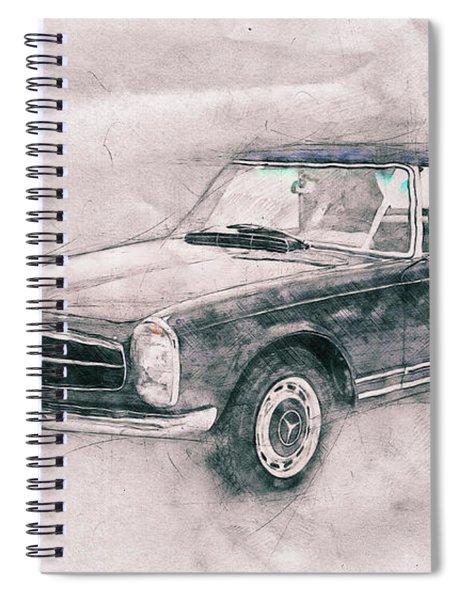 Mercedes-benz 280sl Roadster 1 - 1967 - Automotive Art - Car Posters Spiral Notebook