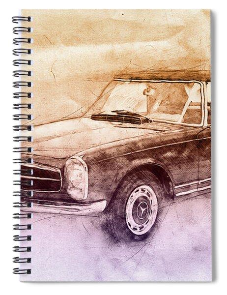 Mercedes-benz 280sl Roadster 2 - 1967 - Automotive Art - Car Posters Spiral Notebook