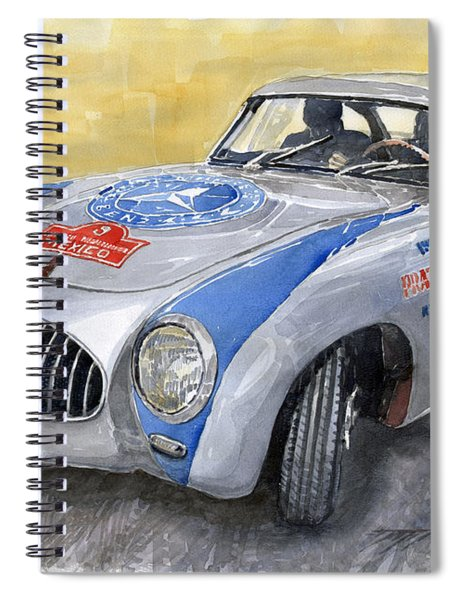 Mercedes Benz 300 Sl 1952 Carrera Panamericana Mexico  Spiral Notebook