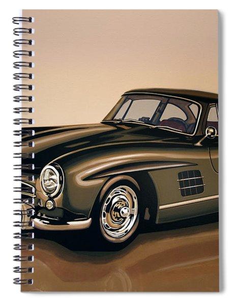 Mercedes Benz 300 Sl 1954 Painting Spiral Notebook