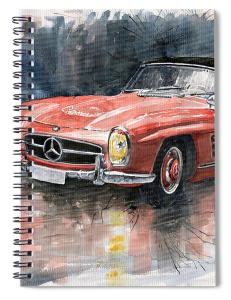 Mercedes Benz 300sl Spiral Notebook