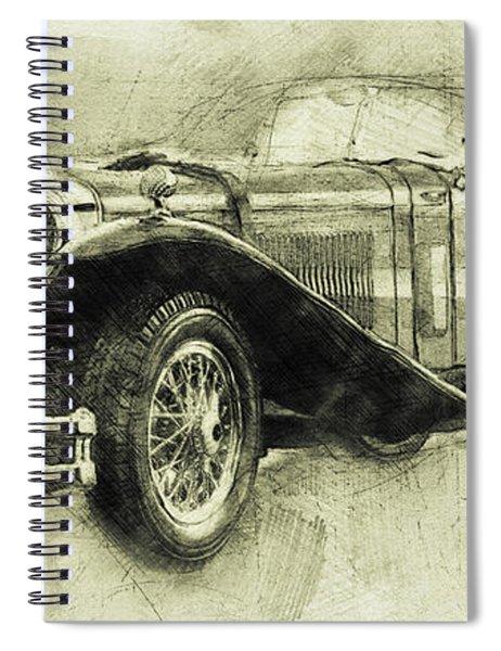 Mercedes-benz Ssk 1 - 1928 - Automotive Art - Car Posters Spiral Notebook