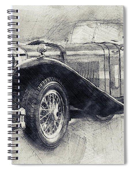 Mercedes-benz Ssk - 1928 - Automotive Art - Car Posters Spiral Notebook
