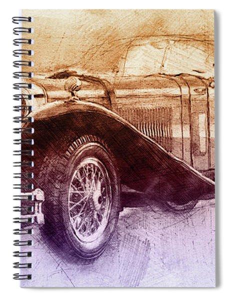 Mercedes-benz Ssk 2 - 1928 - Automotive Art - Car Posters Spiral Notebook