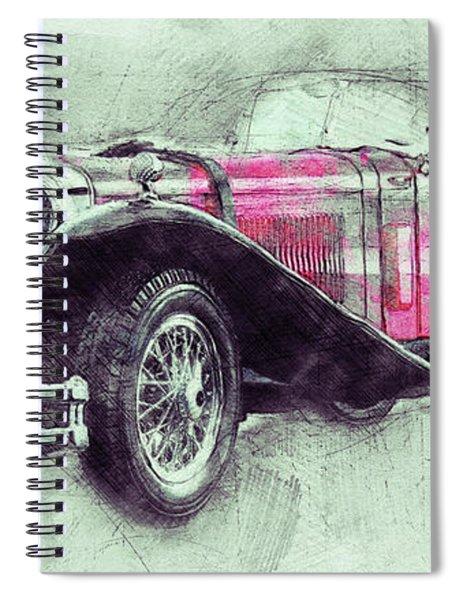 Mercedes-benz Ssk 3 - 1928 - Automotive Art - Car Posters Spiral Notebook