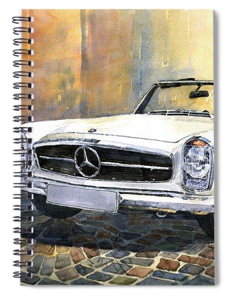 Mercedes Benz W113 280 Sl Pagoda Front Spiral Notebook