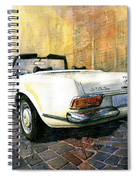 Mercedes Benz W113 280 Sl Pagoda Spiral Notebook