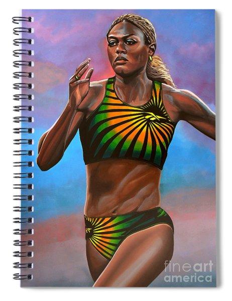 Merlene Ottey Spiral Notebook