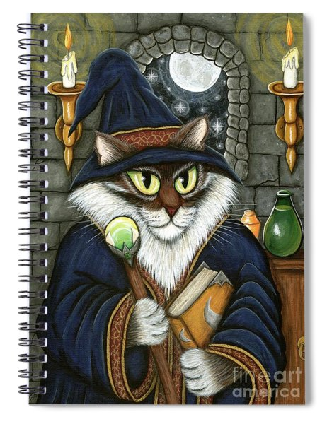 Merlin The Magician Cat Spiral Notebook