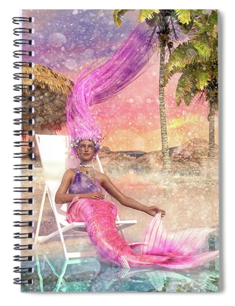 Mermaid By The Sea Spiral Notebook