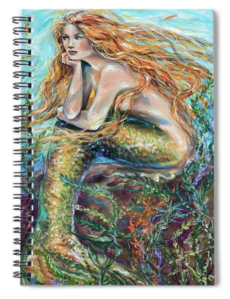 Mermaid Contemplating Spiral Notebook