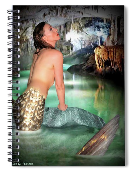 Mermaid In A Cave Spiral Notebook