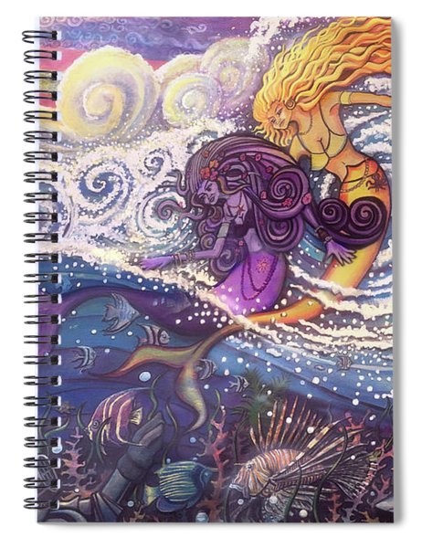 Mermaids In The Surf Spiral Notebook