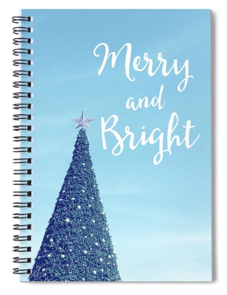 Merry And Bright - Art By Linda Woods Spiral Notebook