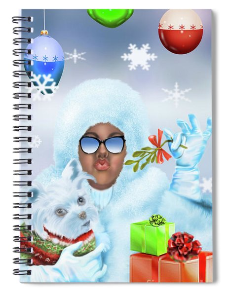 Merry Christmas And Kisses Spiral Notebook