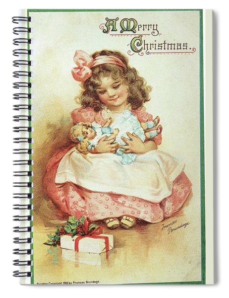 Merry Christmas For My Dolly Spiral Notebook