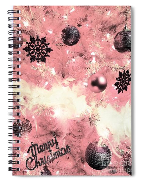 Merry Christmas In Pink Spiral Notebook