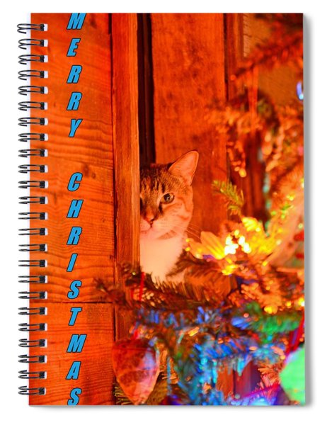 Merry Christmas Waiting For Santa Spiral Notebook