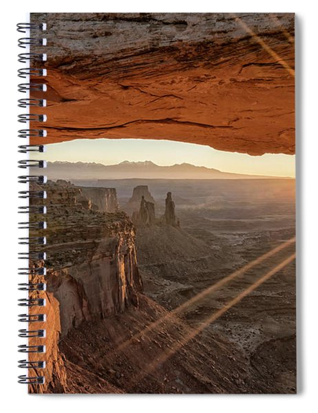Mesa Arch Sunrise 4 - Canyonlands National Park - Moab Utah Spiral Notebook