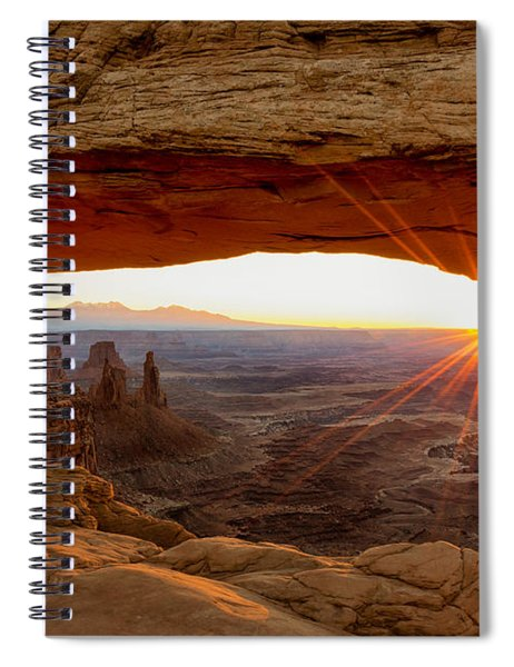 Mesa Arch Sunrise - Canyonlands National Park - Moab Utah Spiral Notebook