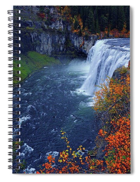 Mesa Falls In The Fall Spiral Notebook