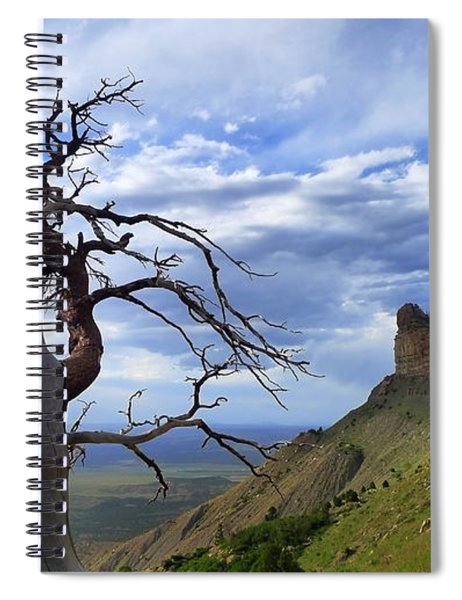 Spiral Notebook featuring the photograph Mesa Verde Mood by Skip Hunt