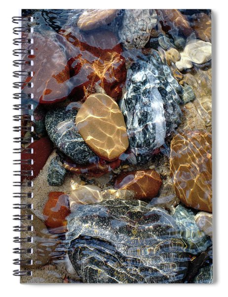 Mesmerized By The Creek Stones  Spiral Notebook