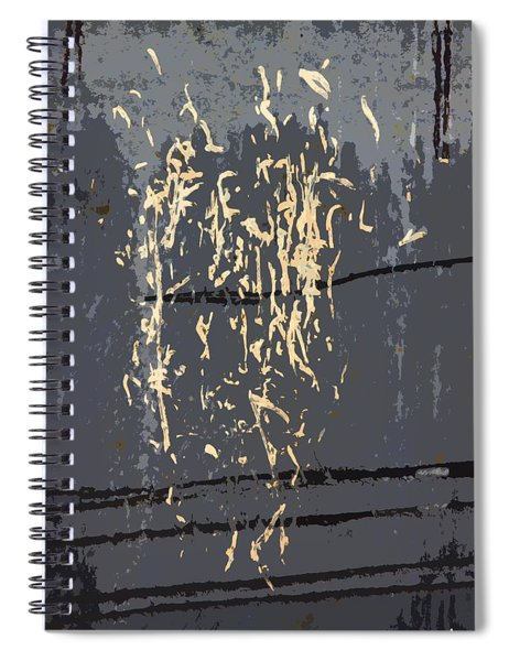 Metal Calligraphy Spiral Notebook