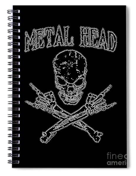 Metal Head Spiral Notebook