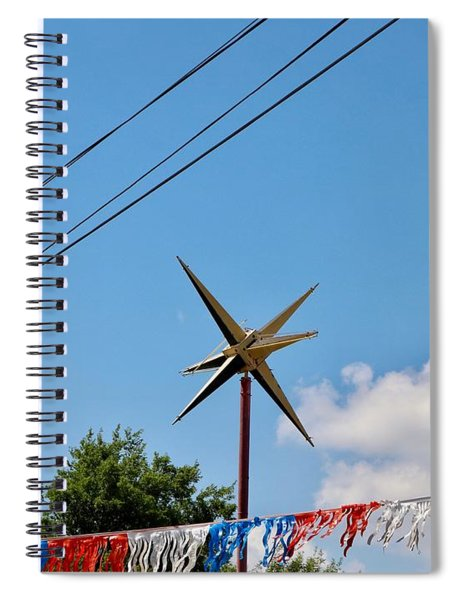 Metal Star In The Sky Spiral Notebook