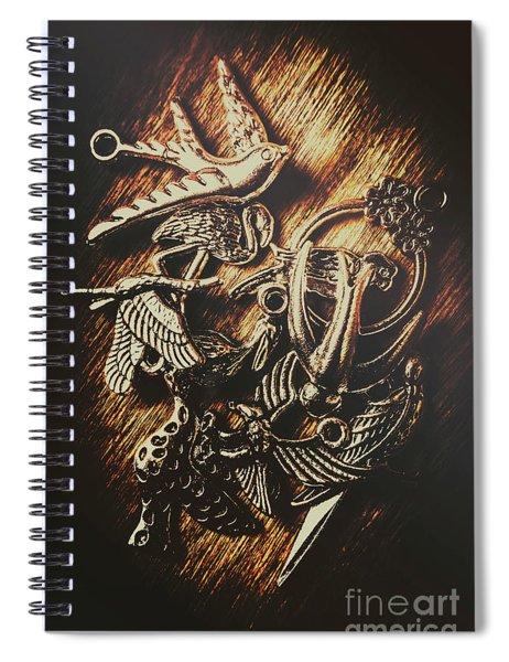 Metallic Birdlife Abstract Spiral Notebook