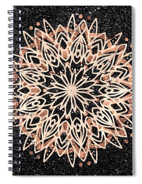 Metallic Mandala Spiral Notebook