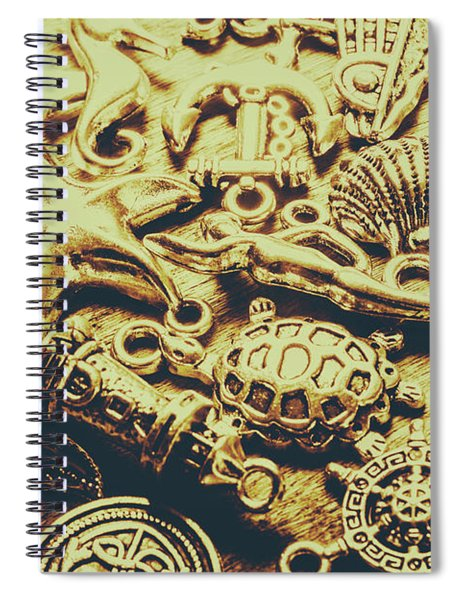 Metallic Marine Scene Spiral Notebook