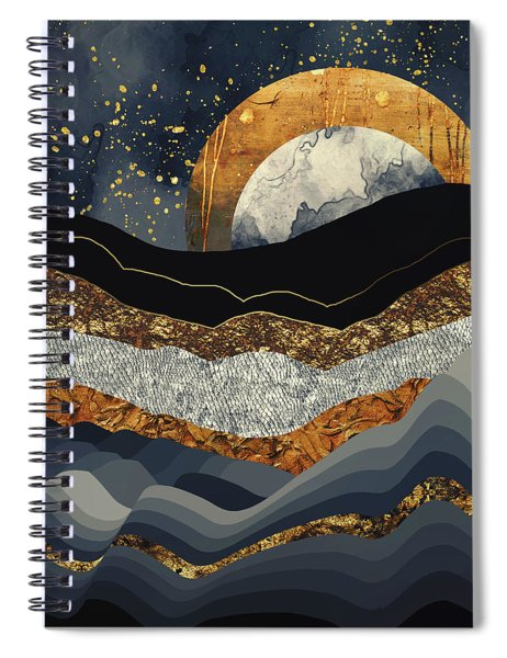 Metallic Mountains Spiral Notebook