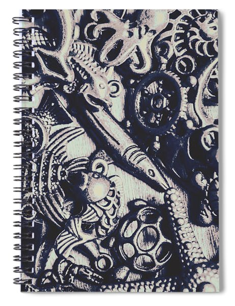 Metallic Seas Spiral Notebook