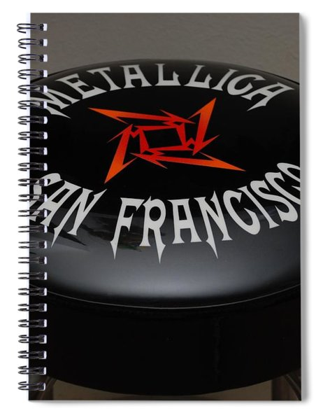 Metallica Bar Stool Spiral Notebook