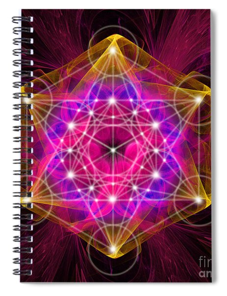 Metatron's Cube With Flower Of Life Spiral Notebook