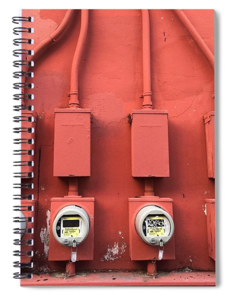 Meter Reader Red 2 Spiral Notebook
