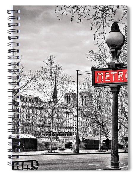 Metro Pont Marie Spiral Notebook
