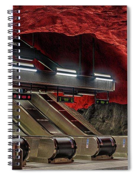 Metro Station Stockholm Spiral Notebook