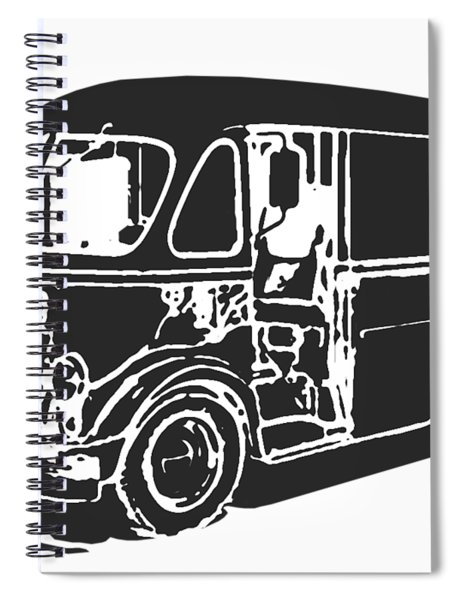 Metro Step Van Tee Spiral Notebook