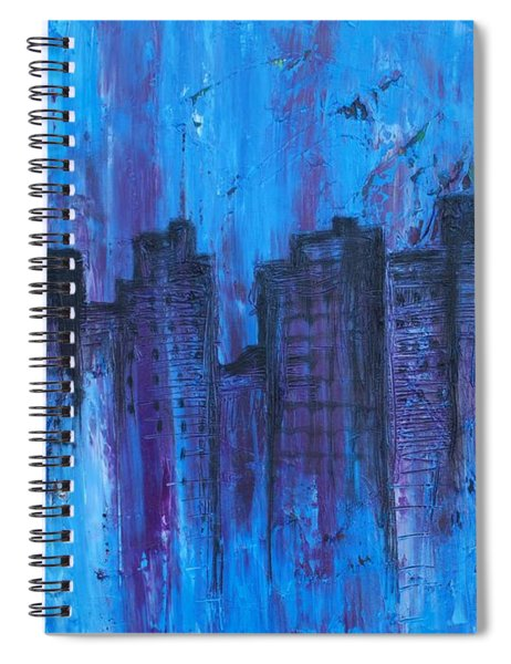 Metropolis In Blue Spiral Notebook