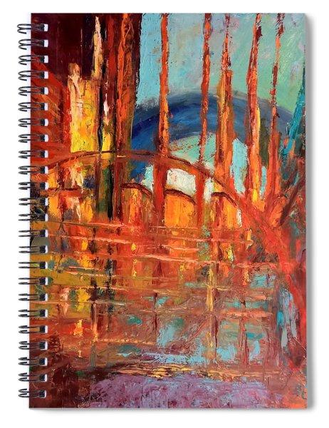 Metropolis In Space Spiral Notebook