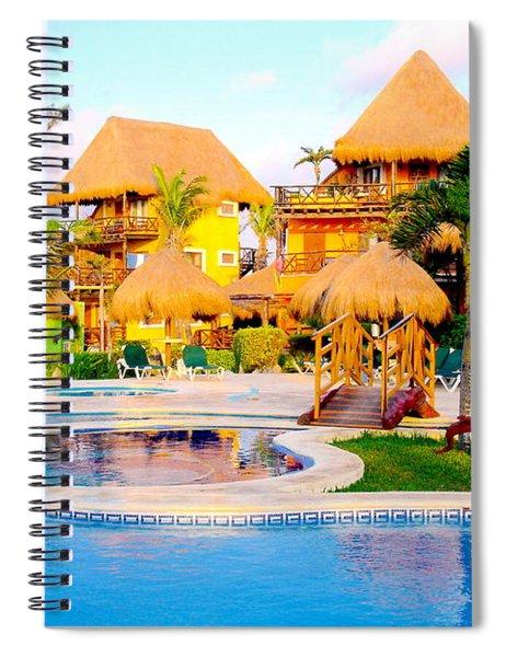 Welness Spa Vacation Feeling Spiral Notebook