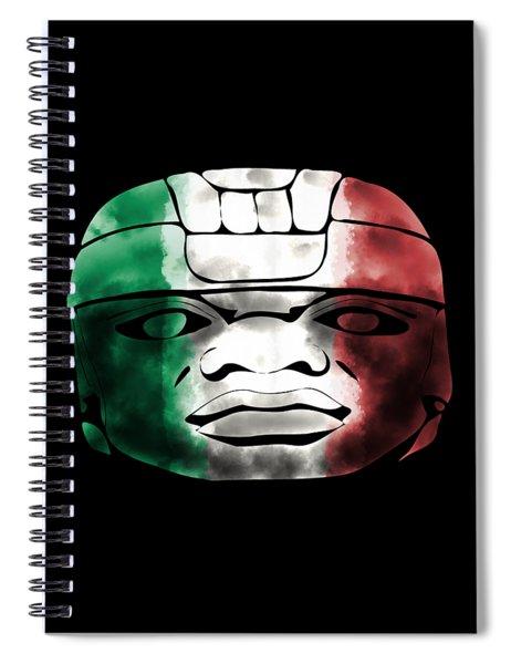 Mexican Olmec Spiral Notebook