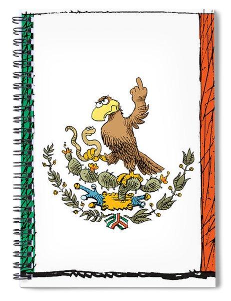 Mexico Flips Bird Spiral Notebook