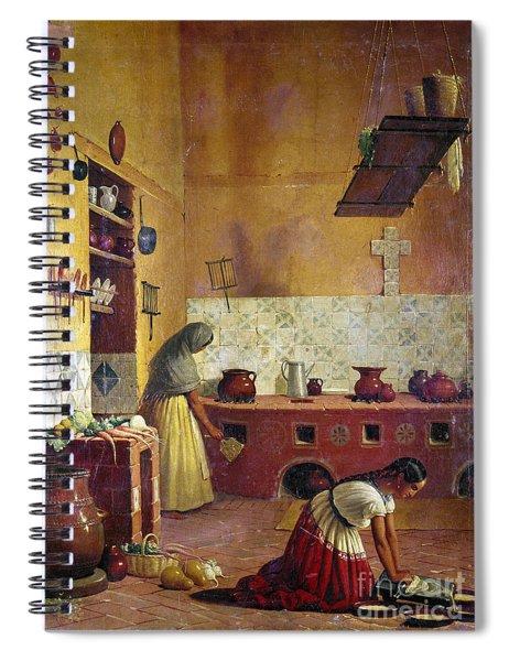 Mexico: Kitchen, C1850 Spiral Notebook