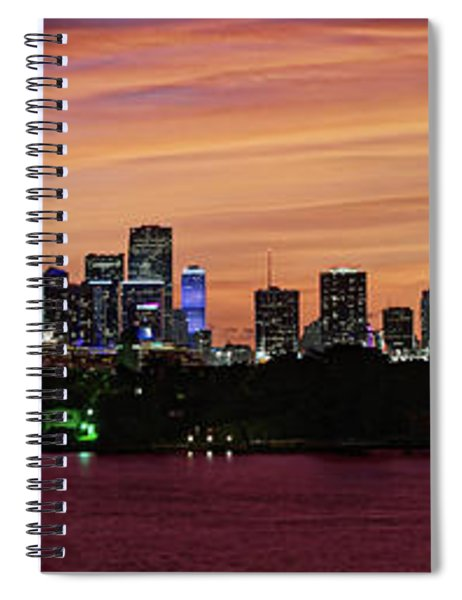 Miami Sunset Panorama Spiral Notebook